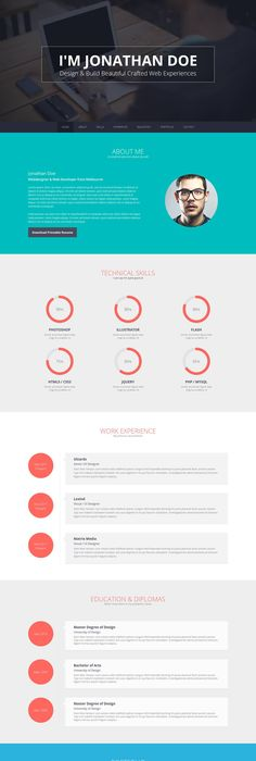 Interactive Resume Pdf  Graphics Adobe And Template