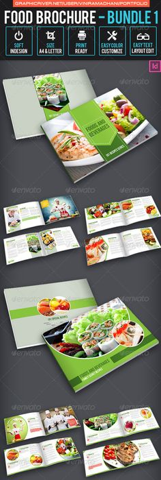 Food Products Catalog Brochure Template 24 Pages Brochure