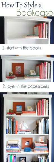 A Breakdown On How To Style A Bookcase. Inspiration Tips And Ideas On How  And Where To Begin Accessorizing A Bookcase Or Shelf In Your Home By  Jenna_Burger.