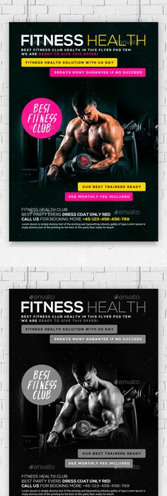 Fitness Coach Flyer Template  Flyer Template Flyer Design