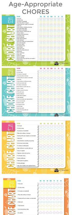 Free Printable Chore Charts For Kids  Job Chart Free Printable