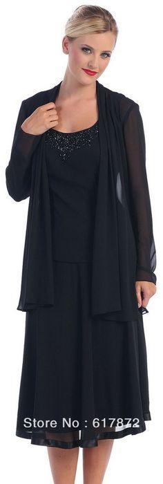 The Mother of Bride Groom Dresses Tea Length Plus Size