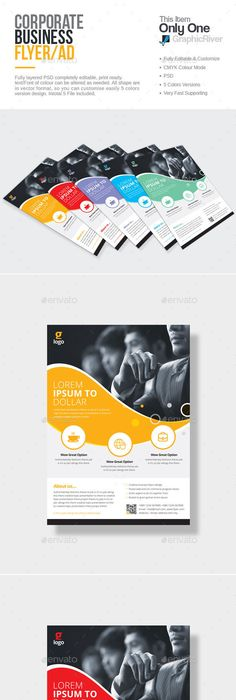 Magic Circle Multipurpose Corporate Flyer Template  Magic Circle