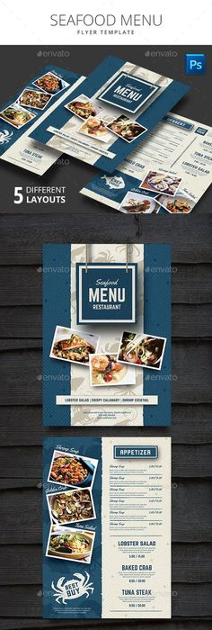 Seafood vintage design template vertical banners set fish and - menu design template