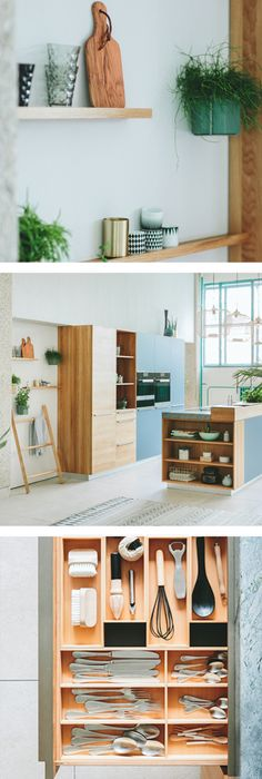 Natürliche Holzküche in elegantem Design von TEAM 7 Holzküchen - küchen team 7