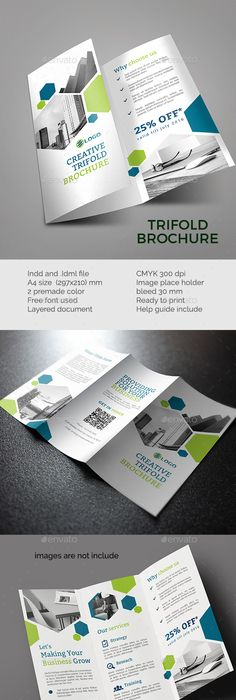 Trifold Brochure | Ai illustrator, Brochure template and Brochures