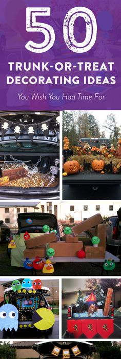 Could maybe go outside near the entrance?? Halloween Pinterest - decorate your car for halloween