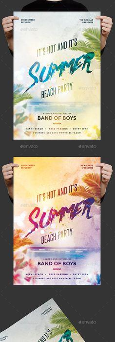 Creative Summer Party Flyer - Enjoy downloading the Premium