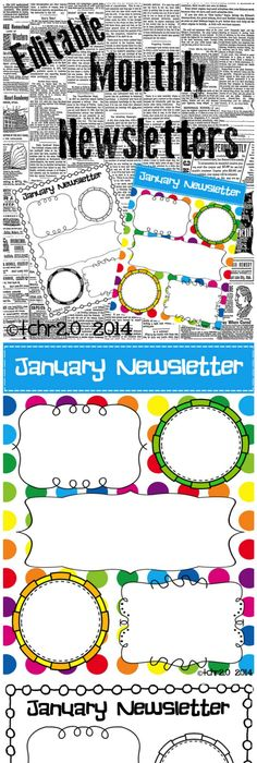 October Monthly Newsletter Template  Customizable  Kindergarten