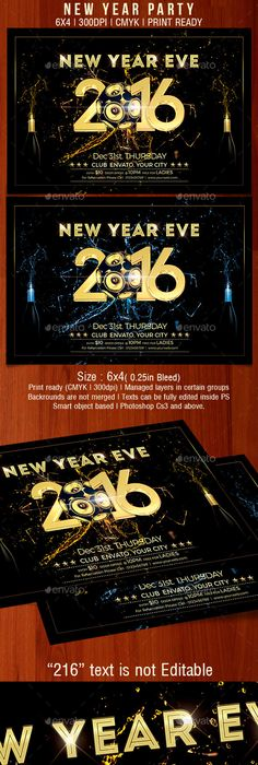 New Year Eve Flyer  Events Flyers  Event Flyer