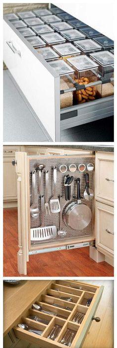 12 astuces gain de place pour aménager ma petite cuisine Corner - amenagement placard d angle cuisine