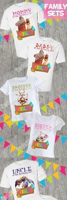 Mom And Dad Of Birthday Girl Moana Verison Shirt Parents