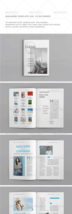 InDesign Magazine Template 40 pages | Indesign magazine templates ...