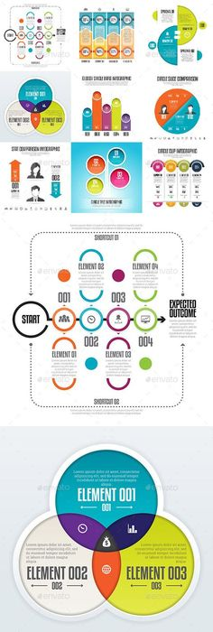 Mini Collection Of Infographics (8 Items)   Infographics, Template ...