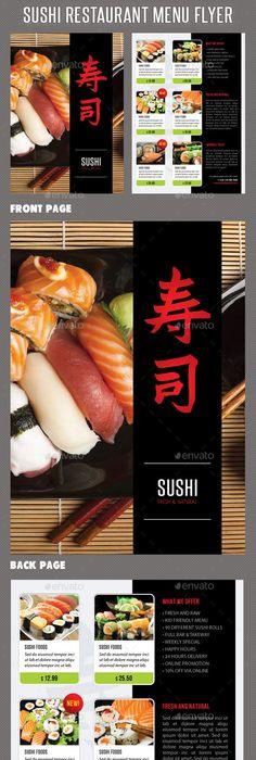 Sushi Restaurant Menu Door Hanger V1 Sushi restaurants, Door