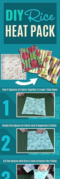 The best do it yourself gifts fun clever and unique diy craft diy rice heat pack easy do it yourself heat pack tutorial made with rice solutioingenieria Gallery