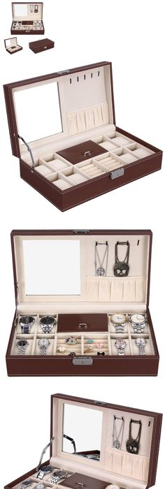 Jewelry Boxes 3820 Men Leather Watch Box Vintage Jewelry Box