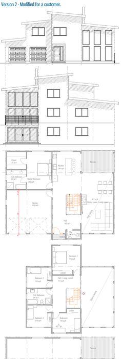 casas de 8x10 metros Proyectos que debo intentar Pinterest - plan maison plain pied 80m2
