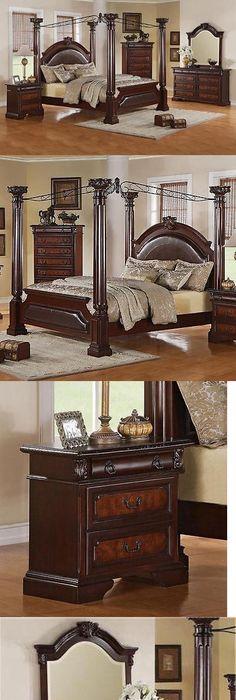 Bedroom Sets 20480: Neo Renaissance King Poster Canopy Bed Wood Bedroom  Furniture Set New