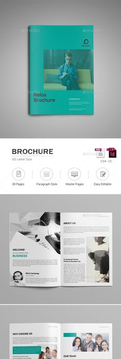 Company Brochure Adobe Indesign Template Indesign Templates Adobe