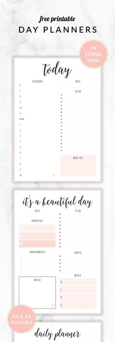 Daily Planner Printable Day   Daily Planner Printable