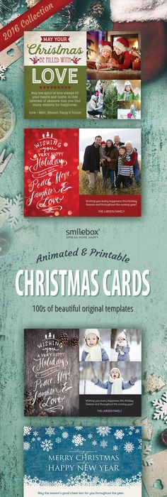Create Your Own Christmas Photo Card With These Free Templates