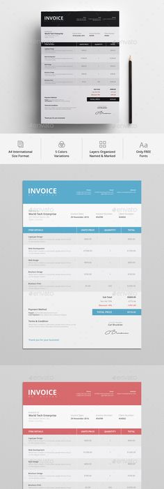 Invoice Design  Examples To Inspire You  Layouts Business And
