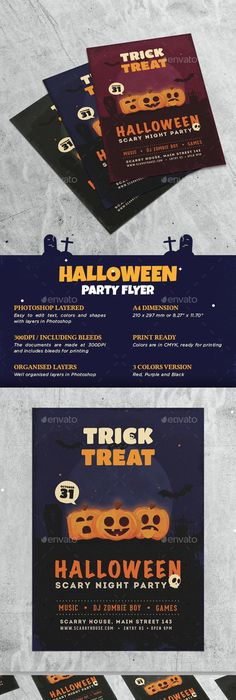 Halloween Flyer Holidays Events Event Party Flyer Templates