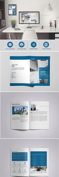 Company Brochure Template Vol.41 -12 Pages | Brochure template ...