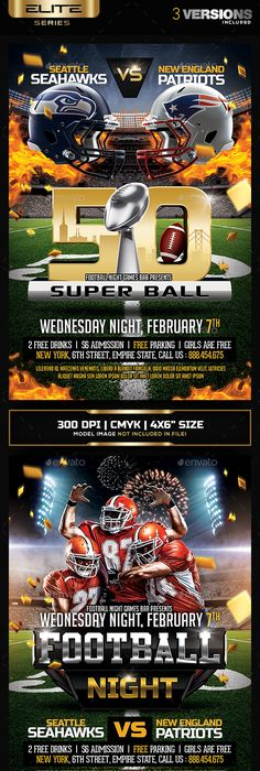 Super Ball  American Football Flyer  American Football Flyer