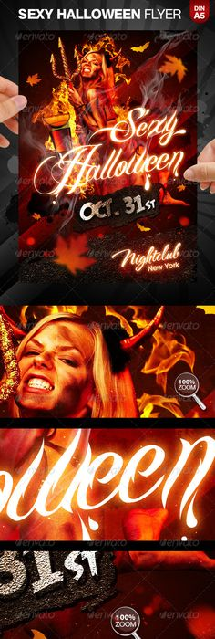 Halloween Party Flyer Bundle   Halloween Party Flyer Party