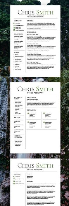 Resume Template Word Mac Endearing Resume Template  Cv Template  Cover Letter  Ms Word On Mac  Pc .