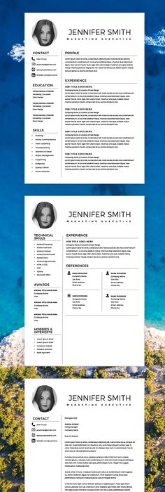 Modern Resume Template + Cover Letter - CV Template - MS Word on Mac