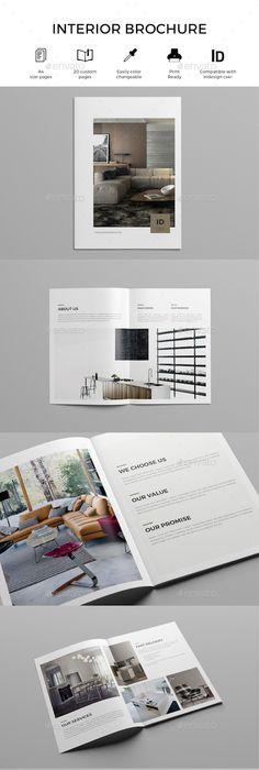 Minimal Interior Architecture Portfolio Brochure Template InDesign