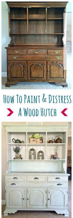 Comment peindre un meuble? Dresser ideas, Shabby and Entry foyer - comment repeindre un meuble vernis