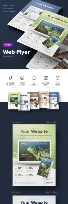 Web Hosting Flyer Template Flyer template, Template and Marketing - web flyer template