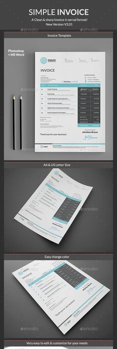 Creative Invoice Template Instant Download Receipt Template - Commercial invoice template free 99 cent store online