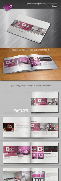 Free multipurpose booklet type corporate brochure InDesign ...