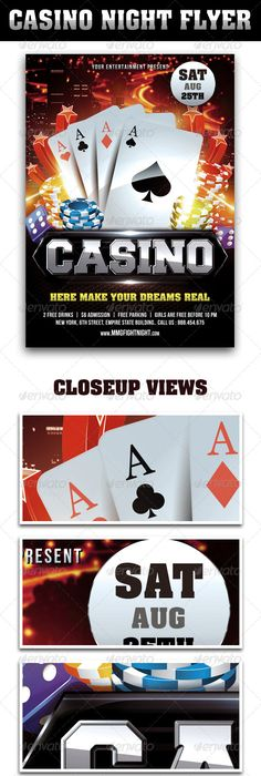 Casino Flyer Fonts Logos Icons Pinterest Fonts Infographics