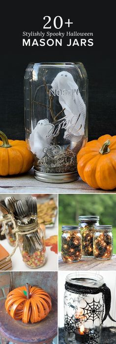 Halloween Mason Jar Luminaries - a crazy easy Halloween decoration - halloween diy crafts