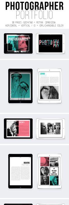 Portfolio Booklet Interactive PDF Template #eportfolio #ebooklet ...