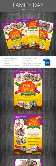 Family Day Flyer Template Militaryalicious