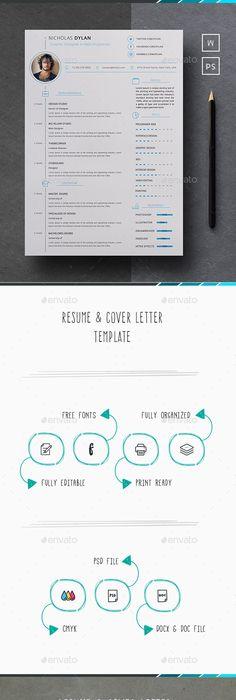 Minimalist Resume Template Ai Psd Docx  Resume Tips