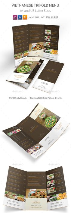 Trifold Food Menu Template Food Menu Template Menu Templates And - Folded menu template