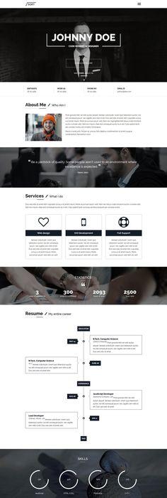 Online Resume Website Pancaro  Personal Resume & Cv Wp Theme Premiumresumes  Resume .