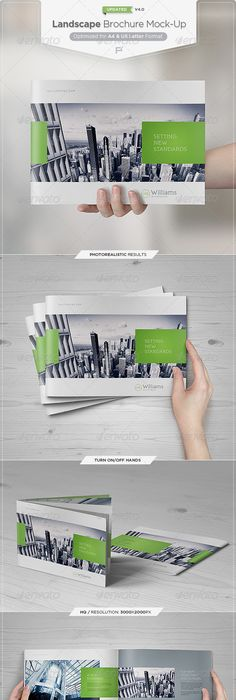 Landscape Brochure MockUp By Eugene Smith Via Behance  Print