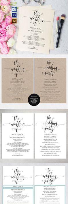 Wedding Program Template   Free Word Pdf Psd Documents