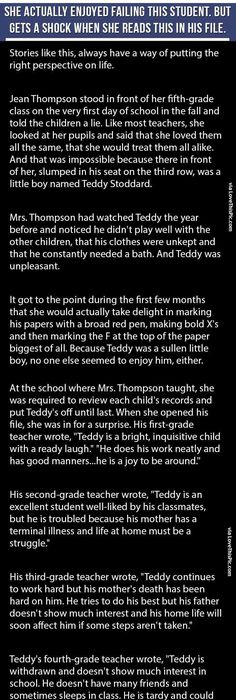Teacher Gets A Shock When She Opens This Boys File Is Heartbreaking Family People Story Life Lessons Stories Heart Warming Good