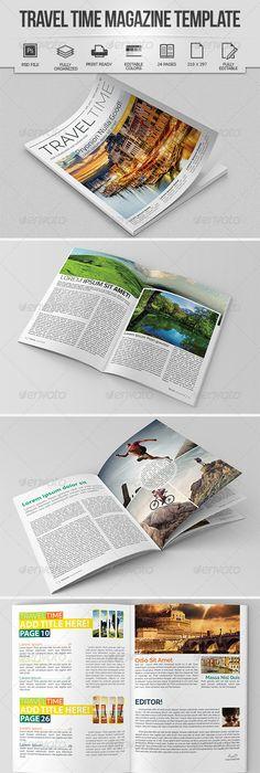 Travel Magazine Template | Template, Print templates and Magazine ...