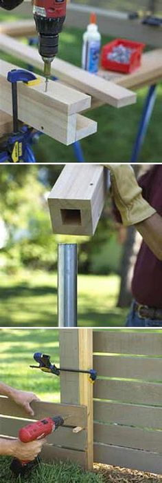 A Diy Fence Post With No Digging Fences Gardens And
